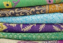 Kantha / Kantha is the age old technique of sewing old pieces of fabric together with a simple running stitch to create a quilted fabric.