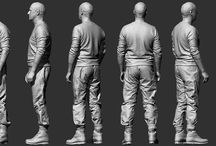 Rendering Clothing / Images and tips on drawing clothing.