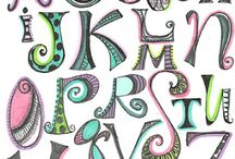 Art journal lettering / by Debbie Roberts