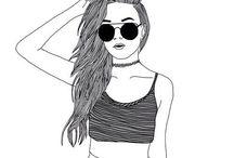 dessins de filles