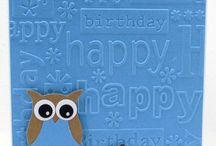 Owl birthday card. John L