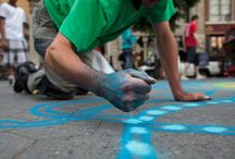 DESSIN DE SABLE COLORE EPHEMERE / œuvre d'art éphémère réalisée en sable coloré, magnifique artiste de la rue à découvrir: Joe Mangrum