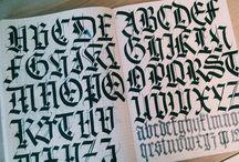 Caligrafia / Lettering / tipografia