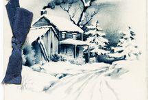 All around Christmas Time and Stuffs / Old, Vintage, Retro illustrations and postcards