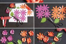 งานประดิษณ์ดอกไม้กระดาษ
