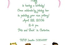 Evie's party invites