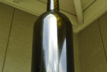 Recycled wine bottle