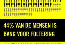 Campagne Stop Foltering / Ga samen met Amnesty tussen de folteraar en zijn slachtoffer staan en zorg voor krachtige waarborgen tegen foltering.  www.aivl.be/StopFoltering