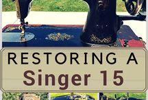 restoring a singer machine