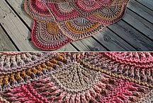 Crotcheting and knitting