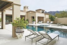 Jim and Catherine Olsthoorn Home / A Mediterranean Scottsdale Home with Spa-Like Ambience designed by Tom Argue and Scott Carson / by Deette Kearns
