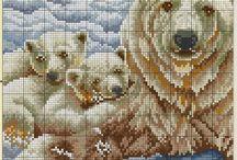 Polar Bear + cubs