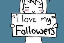 A mes abonnés -to my followers