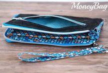 Geldbörse MoneyBag / Fotos & Designbeispiele von meinem Ebook MoneyBag.  Die Geldbörse ist für geübte Näherinnen ein wunderschönes Projekt. In zwei verschiedenen Größen und mit drei unterschiedlichen Reißverschlussvarianten bleiben keine Wünsche offen.