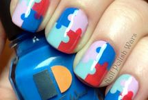 Fun nails! / Fun and doable-by-humans nail/manicure ideas. / by Annette Kolnitys