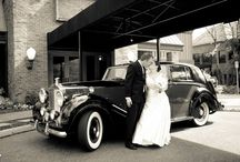 How to Arrive in Style / The big bridal send off - unique ways of making an entrance or exit at events and weddings with vintage cars of showers of sparklers.