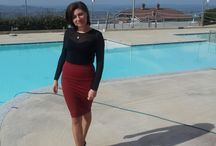 pencil skirt casual chic