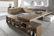Keuken in grote ruimte