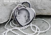 Engraved Jewelry / Custom engraved photos on necklaces and key chains