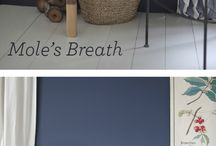 Paint colours and dark blue decorating schemes