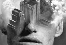 by antonio mora / Double exposure portraits by Spanish-basedartist Antonio Mora(a.k.a. Mylovt) blend human and nature worlds into surreal hybrid artworks.