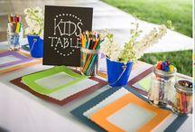 Kącik dla dzieci na przyjęciu weselnym / Stół dla dzieci na weselu, zabawy dla dzieci, animator na weselu, dzieci niosące obrączki