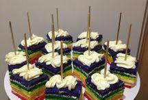 Regenboog cake / Regenboog cake