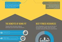Fitness Infographics / Great ways to sum up the benefits of fitness, health and goal setting.