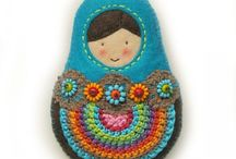 Matryoshka /Stacking dolls / I have always been fascinated with these Matryoshka dolls