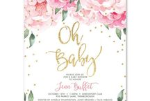 Baby shower invites/cake/decor ideas