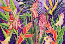 Paintings. Tropical / A selection of colourful paintings that reflect my love of tropical places!