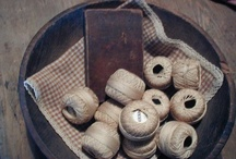 bowl fillers / things that you would place in a wooden bowl to decorate with.  I love this primitive look