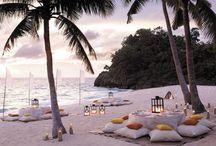 Beaches, picnics ,romantic, settings, lovely spots.