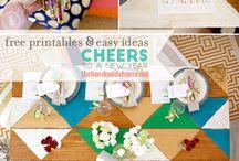 // season : new year // neujahr & silvester // / New year decoration, gifts, party, food, inspiration. Neujahr, Silvester