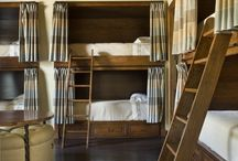 bunks and entry benches