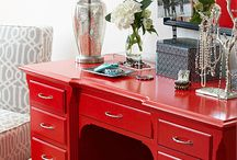 Red dresser - Refurbish furniture insp.