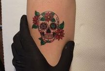 small skull tattoo for women