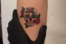 small skull tattoo for women