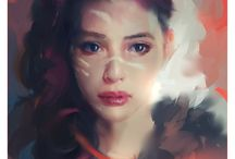 Illustration : painterly style / by Isabelle Carrier