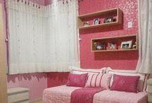 quarto rosa x vermelho