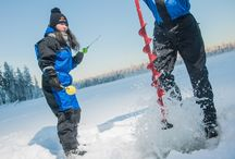 Ice-fishing in Lapland