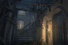 Gloomy Interior Space