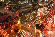 Displays of Christmas lights
