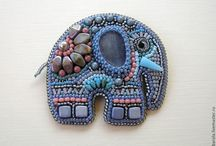 Beaded Brooches & Pins