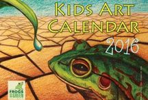 2016 Kids Art Calendar / 2016 #KidsArt #Calendar Now available from Frogs Are Green! On the cover is the fabulous award winning piece by Irene Qiao, 13 years old from the USA. Inside artworks from across NJ, New Mexico, India, Turkey and more... You'll see the 12 selected in the attached graphic for the inside pages... http://frogsaregreenkids.com/product/2016-kids-art-calendar/ #2016calendar #kidsartcalendar #frogartcalendar