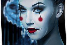 Circo. Roupas e maquiagem