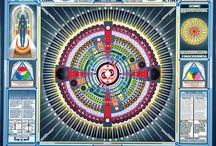 """Paul Laffolley / """"Paul Laffoley (born August 14, 1940) is a U.S. artist and architect from Cambridge, Massachusetts... Most of Laffoley's pieces are painted on large canvases and combine words and imagery to depict a spiritual architecture of explanation, tackling concepts like dimensionality, time travel through hacking relativity, connecting conceptual threads shared by philosophers through the millennia, and theories about the cosmic origins of mankind..."""" (Wikipedia)"""