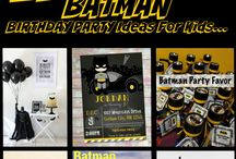 Ethan's 5th Birthday Party Batman Theme