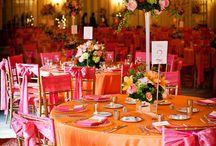 Orange and Pink Wedding