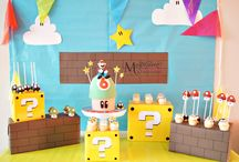 Super Mario Dessert/Sweet Table / Super Mario themed dessert/sweet table. Styling, sweets and pictures by Masterpiece Of Cake.